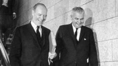 Mitchell Sharp and John Diefenbaker.