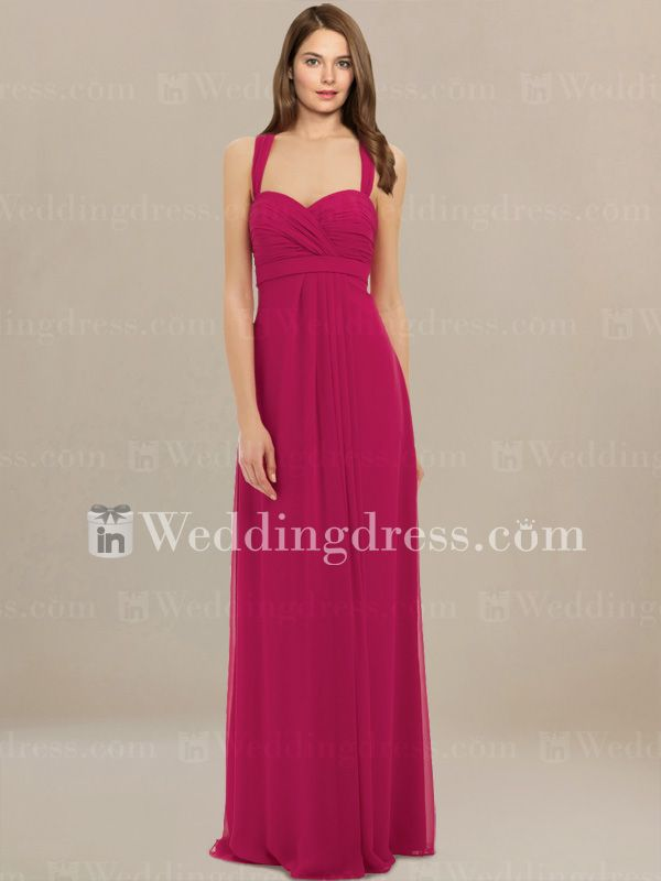 Casual Bridesmaids Dresses with Halter Strap BR122