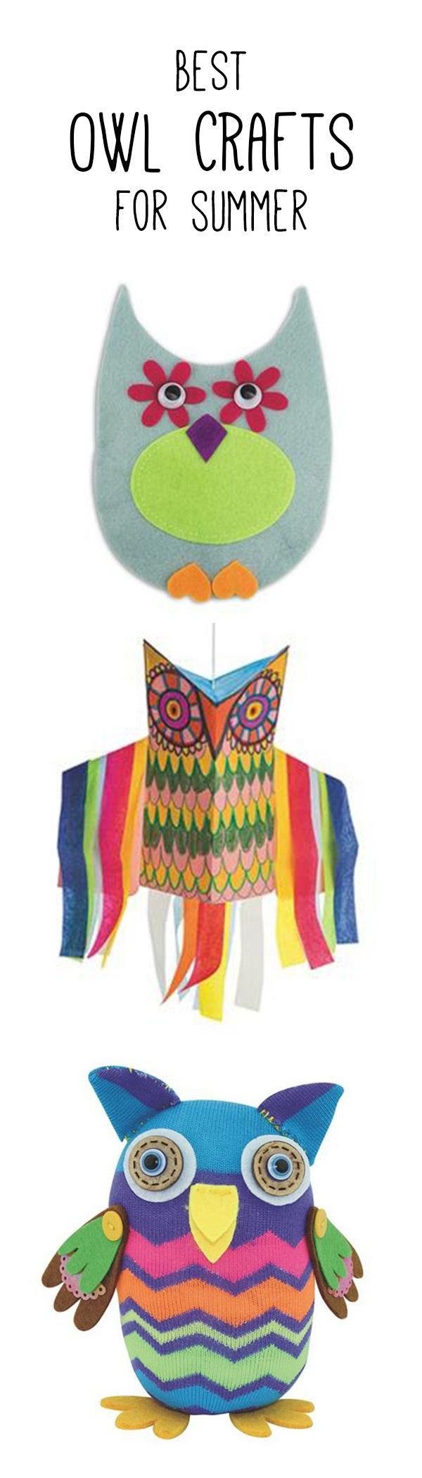 Best owl crafts for kids! Perfect for the summer.