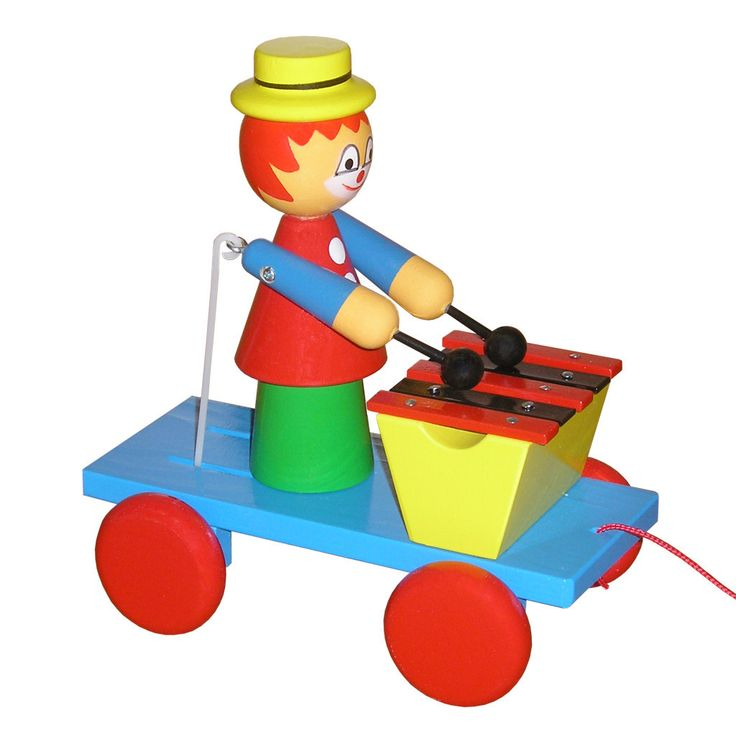 Wooden Pull Along Clown With Xylophone - Sonny
