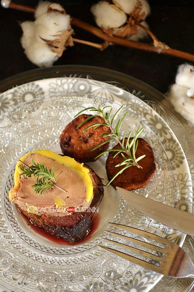 Dégustation tournedos au magret de canard rôti en cocotte en fonte et médaillon de foie gras - repas de fêtes