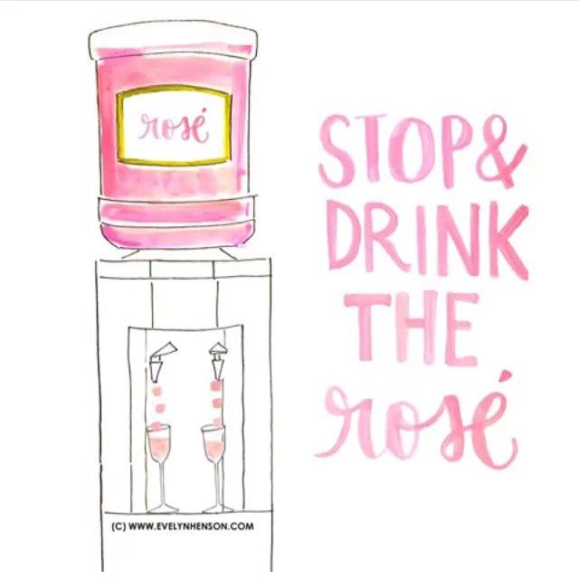 #brightlydecoratedlife tip: Stop & Drink The Rosé