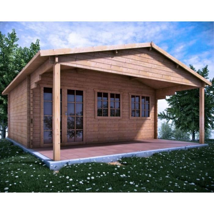 Chalet en bois scottish 6 x 5 44 mm achat vente abri for Achat abri jardin
