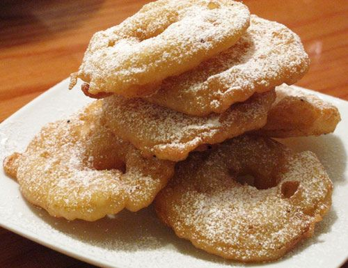 appelflappen, we this with old and new years day. It is yummie. We also put powderd sugar on it.