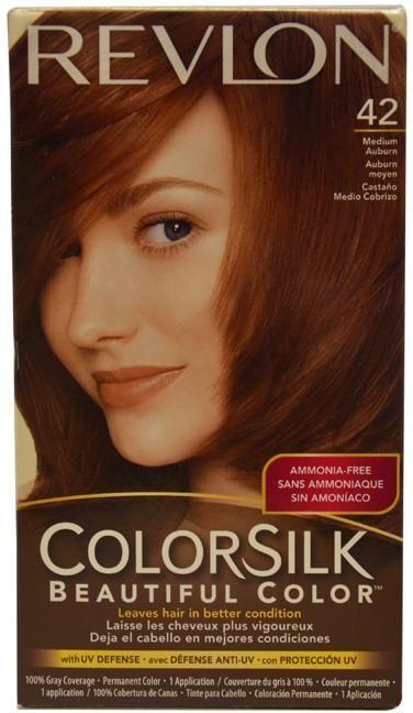 Unisex Revlon colorsilk Beautiful Color #42 Medium Auburn Hair Color