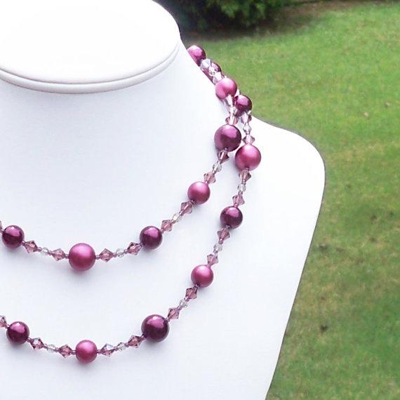 Swarovski and pearl necklace idea