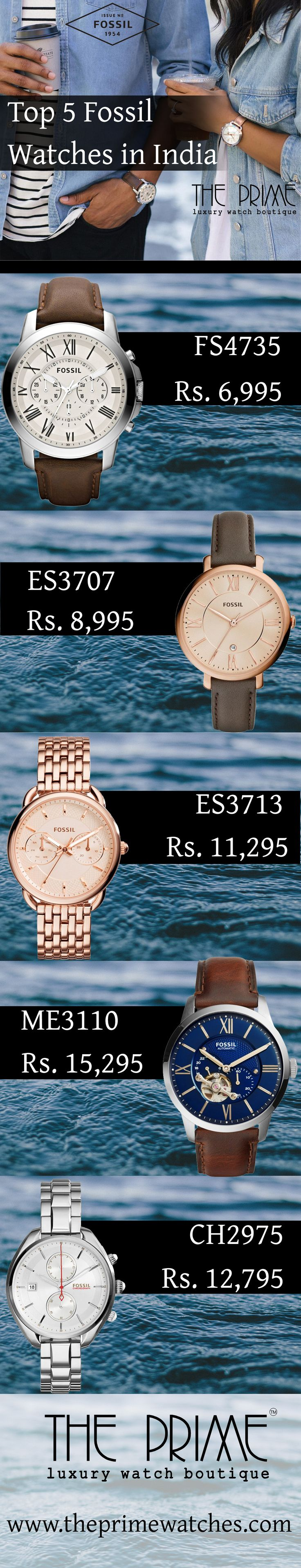 Fossil is a fashion watch brand whose watches are widely available in India and also loved by its watch users. This content presents some magnificent Fossil watches that are accessible in India. Fossil, one of the dominating watch brand in India has wide collections of watches in its store. From this content, you will get a glimpse of some Fossil watches that are stylish and effective. These watches are ruling the Indian watch market.