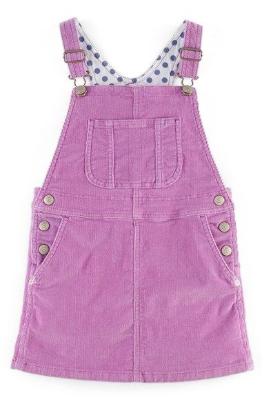 Mini Boden 'Dungaree' Overall Dress (Toddler Girls, Little Girls & Big Girls) available at #Nordstrom