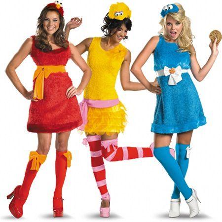 elmocookie monster and big bird teen costumes - Halloween Costumes Elmo