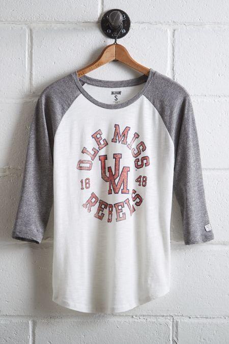 Tailgate Women's Ole Miss Rebels Baseball Shirt