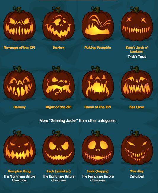 Zombie Pumpkins! The BEST pumpkin carving templates around! - http://goo.gl/jrk1ta