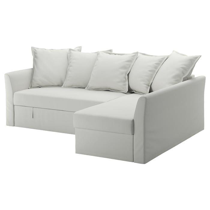 Holmsund Sleeper Sectional 3 Seat Orrsta Light White Gray Corner Sofa Bed Ikea Sofa Bed Ikea Sofa