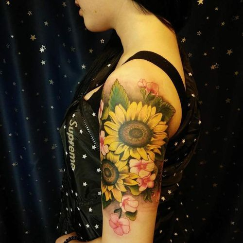 Sunflower Tattoos Pin