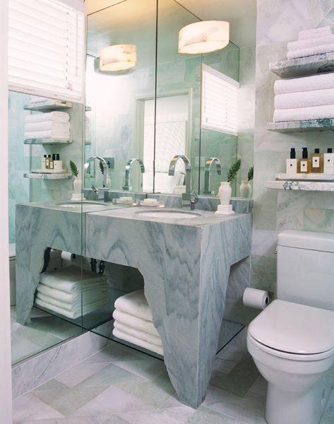 The Avalon Hotel bathroom designed by Kelly Wearstler. Beverly Hills, CA.