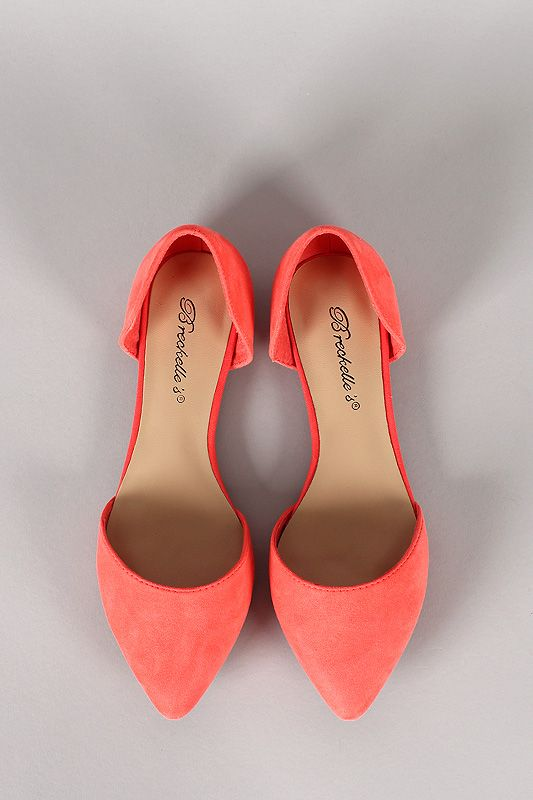 This coral color is really pretty. And you can never have enough flats.