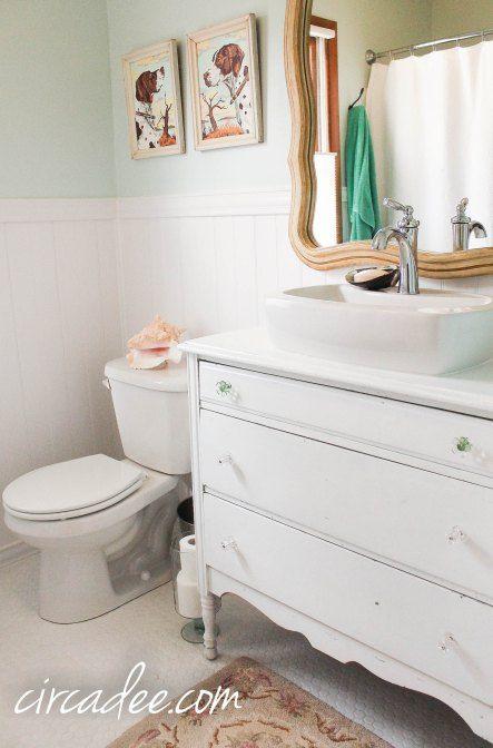 DIY Vintage Cottage Style Bathroom