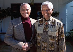 Harry Belafonte and Nelson Mandela.