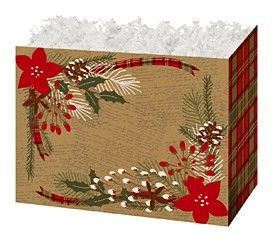 "Large Box Holly-day Plaid 10.25"" x 6"" x 7.5""-47348"