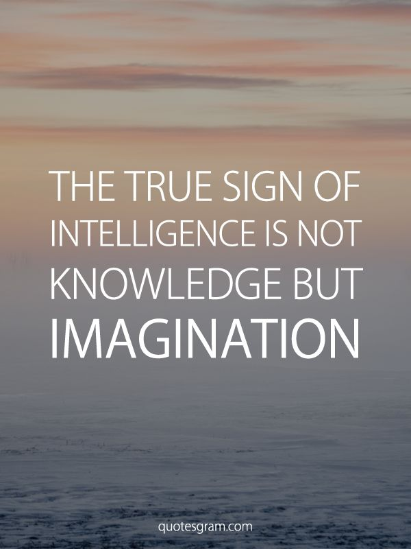 the idea of imagination as the true sign of intelligence Page 1 ix the true sign of intelligence is not knowledge but imagination ----  albert einstein.