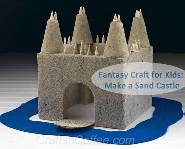 Kids who love fantasy play will love making their own, Everlasting Sand Castle. It has a working drawbridge, too. No power tools needed -- it's all made from a sheet of Styrofoam brand foam.
