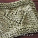 knitted lace heart pattern