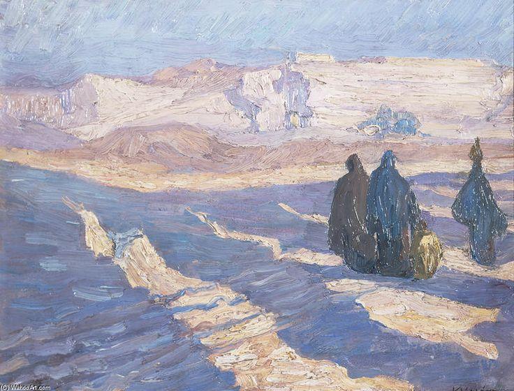 'Drei ägyptische Frauen', 1911 von Constantine Maleas (1879-1928, Turkey)