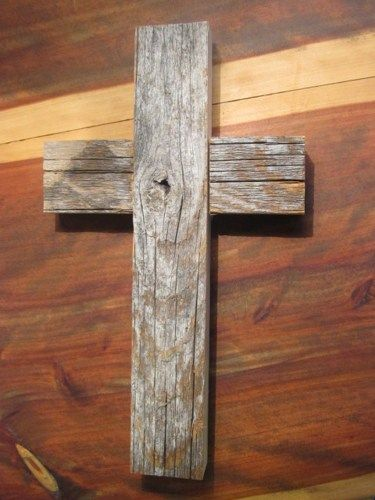 Rustic Old Barn Wood Cross | SweetgumWhimsies - Woodworking on ArtFire