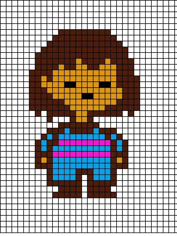 Image result for undertale chara on a grid