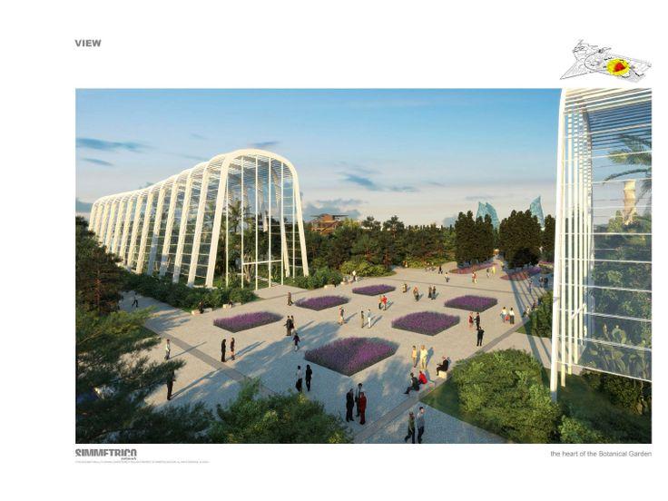 AG&P greenscape Vista sulle serre del progetto Naturalia Botanical Gardens a Baku