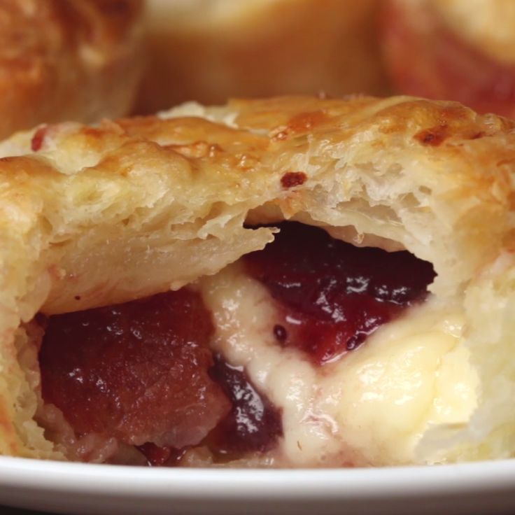 Brie, Bacon & Cranberry Mini Pies