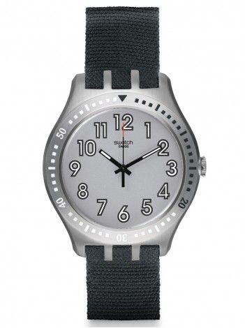 SWATCH nummer 100 grey textile strap YTS100 http://kloxx.gr/brands/swatch-1/swatch-nummer-100-grey-textile-strap-yts100