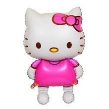 116*65cm Oversized Hello Kitty Cat Foil Balloons Cartoon Birthday Decoration Wedding Party Globos Air Balloons Classic Toys(China (Mainland))