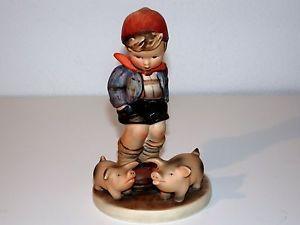Vintage Hummel Figurine - Farm Boy w/ Pigs