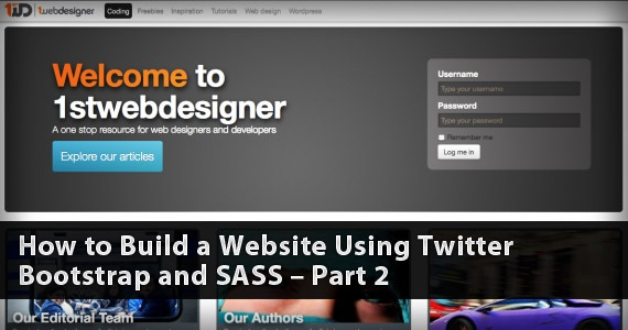 How to Build a Website Using Twitter Bootstrap and SASS – Part 2