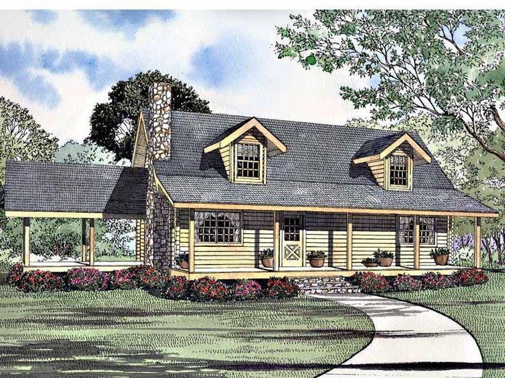 Eplans Log Houses House Plan Two Bedroom Log Houses
