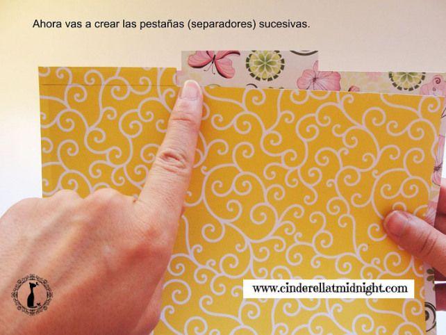 Tutorial Paso a paso de cómo hacer una agenda scrapbook estilo Cinderella: http://cinderellatmidnight.com/2014/02/17/el-tutorial-que-tods-estabais-esperando-como-hacer-una-agenda-scrapbook-paso-a-paso/