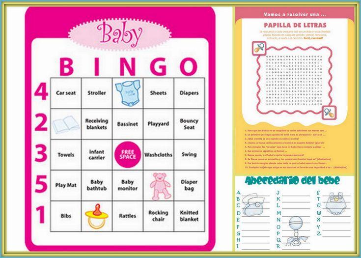 juegos gratis para baby shower para imprimir ejemplos de