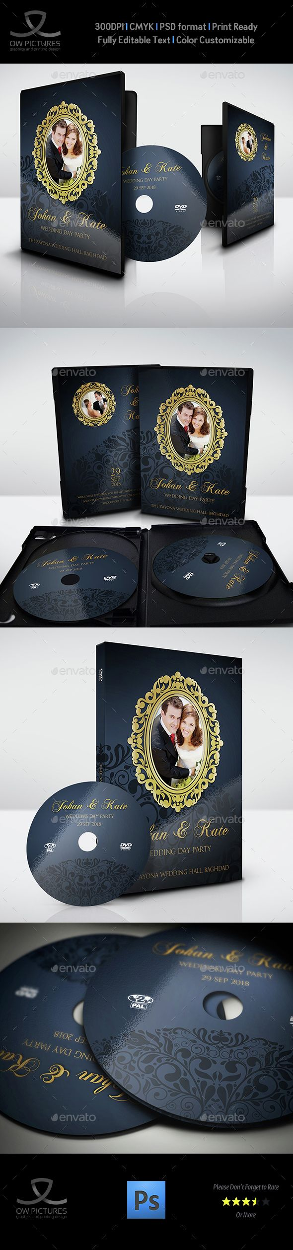 Wedding DVD Cover and DVD Label Template PSD. Download here: http://graphicriver.net/item/wedding-dvd-cover-and-dvd-label-template-vol7/15178517?ref=ksioks