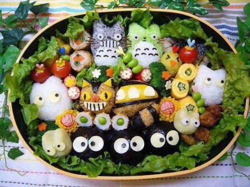 Oh my gosh!: Friends, Kawaii, Japan, Lunches Boxes, Totoro Bento, Food Art, Foodart, Studios Ghibli, Animal