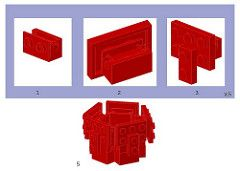 Lego Rose Instructions (space man mort) Tags: lego moc rose instructions