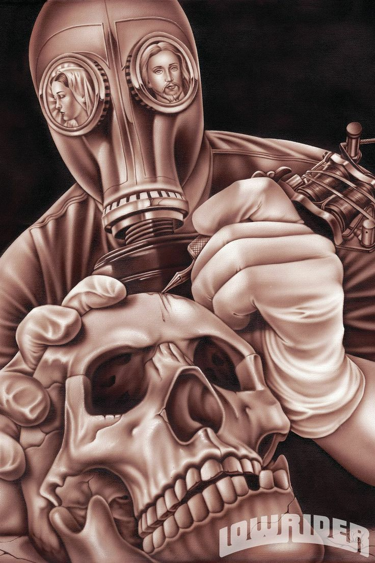44 best gas mask tattoos collection - Artist Sal Elias