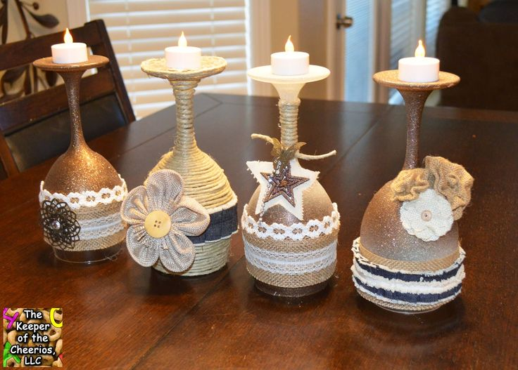 The Keeper Of The Cheerios Rustic Wine Glasses Crafts