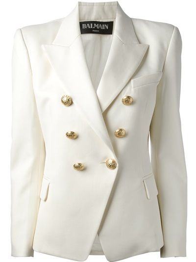 Balmain Double Breasted Blazer - Luisa World - Farfetch.com