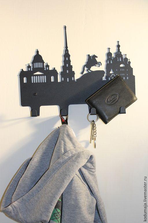 "Hanger ""St.-Petersburg"" - hanger, metal hanger, wall hanger, key holder, key rack. (Вешалка ""Санкт-Петербург"" - вешалка, вешалка из металла, вешалка настенная, ключница, вешалка для ключей)"