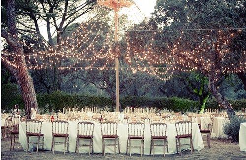 dineOutdoor Wedding, Ideas, Wedding Receptions, Twinkle Lights, Trav'Lin Lights, Parties, Fairies Lights, String Lights, Outdoor Receptions