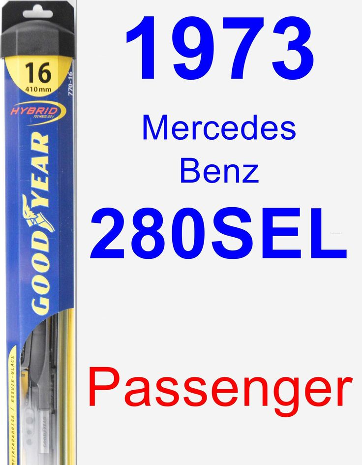 Passenger Wiper Blade for 1973 Mercedes-Benz 280SEL - Hybrid