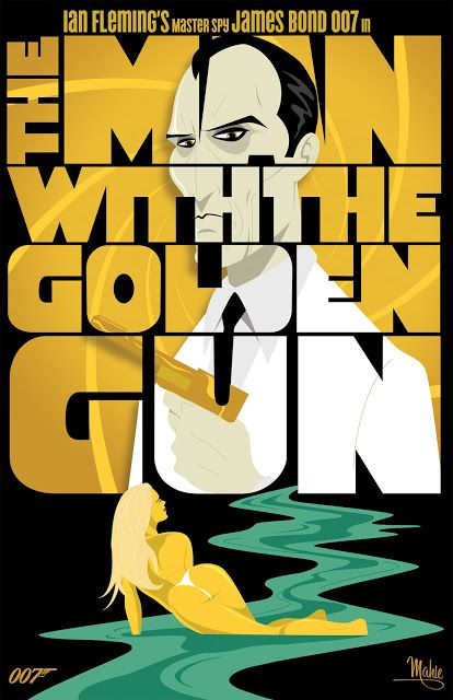 Cool Art: 'The Man With The Golden Gun' by Mike Mahle