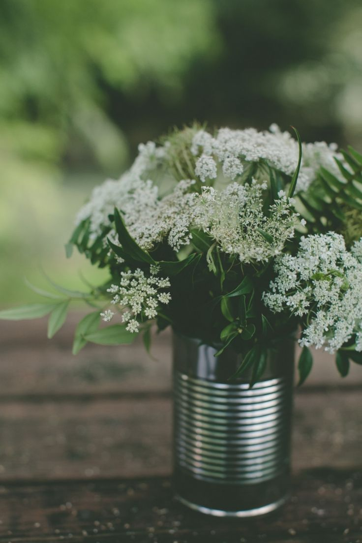 You know the Mason Jar Trend in Bridal right now? I Hate it. But this...Save your tin cans girls!!!