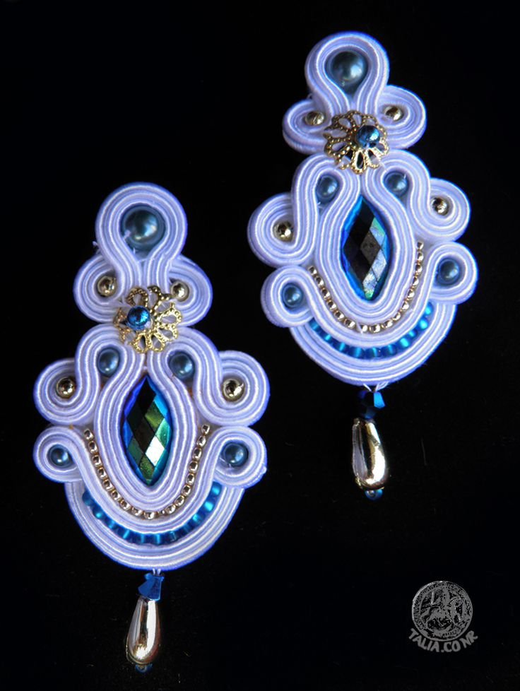 Earrings in White