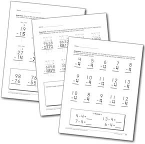 Touch Math for upper grade level students 3rd and up. Free pages to usee.